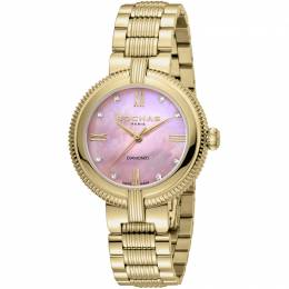 Rochas Pink MOP Gold-Plated Stainless Steel RP2L018M0031 Women's Wristwatch 34MM 221332
