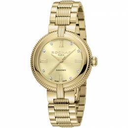 Rochas Champagne Gold-Plated Stainless Steel RP2L018M0021 Women's Wristwatch 34MM 221331