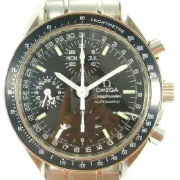 Omega Black Stainless Steel Speedmaster Triple Calendar 3520.50 Men's Wristwatch 39MM 221396