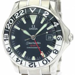 Omega Black Stainless Steel Seamaster GMT 2536.50 Men's Wristwatch 41MM 221003