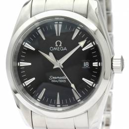 Omega Black Stainless Steel Seamaster Aqua Terra 2518.50 Men's Wristwatch 36.2MM 220998