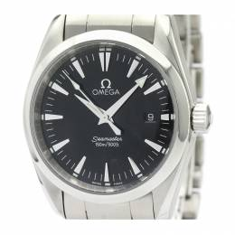 Omega Black Stainless Steel Seamaster Aqua Terra 2518.50 Men's Wristwatch 36.2MM 220997