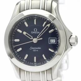 Omega Blue Stainless Steel Seamaster Jacques Mayol 2001 Limited Edition 2587.80 Women's Wristwatch 26MM 220980