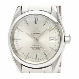 Omega Silver Stainless Steel Seamaster Aqua Terra Chronometer 2504.30 Men's Wristwatch 36MM 220987