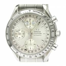 Omega Silver Stainless Steel Speedmaster Day-Date 3523.30 Men's Wristwatch 39MM 220951