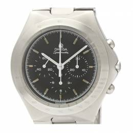Omega Black Stainless Steel Speedmaster German Cal.861 145.0040 Men's Wristwatch 44MM 220952