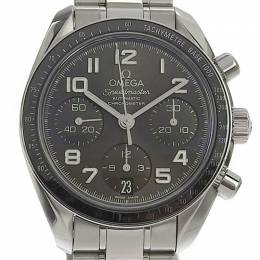 Omega Black Stainless Steel Speedmaster Chronograph 324.30.38.40.06.001 Men's Wristwatch 38MM 220954