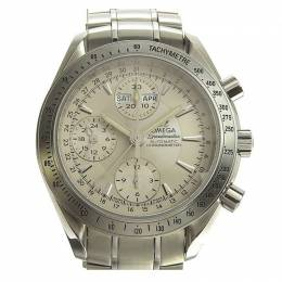 Omega Silver Stainless Steel Speedmaster Date / Day-Date Chronograph 3221.3 Men's Wriswatch 39MM 220955