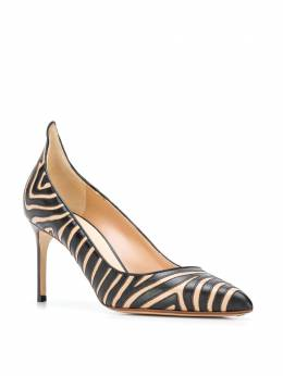 Francesco Russo - striped pointed pumps 56693038969000000000