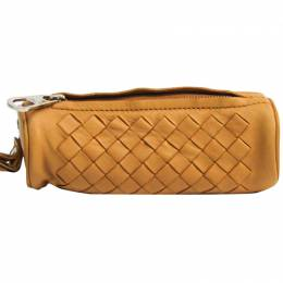 Bottega Veneta Beige Intrecciato Lamb Leather Coin Wallet 222950