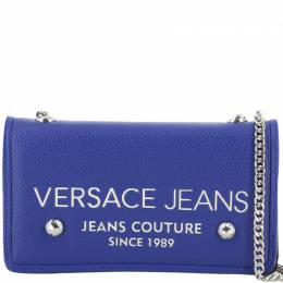 Versace Jeans Blue Synthetic Leather Clutch Bag 224347