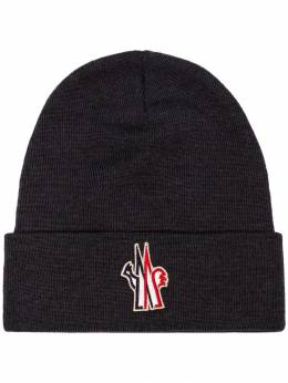 Moncler Grenoble - logo patch beanie hat 69666993593993999000
