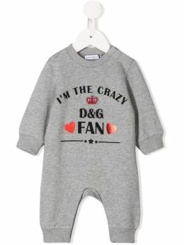Dolce&Gabbana Kids - боди I'm The Crazy Fan OP3G3TDD955866980000