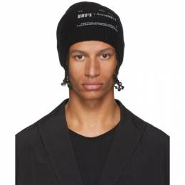 Julius Black Wool and Cashmere Beanie 192420M13800201GB