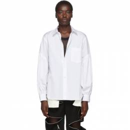 Comme Des Garcons Homme Plus White Shirred Sleeve Shirt 192347F10900104GB