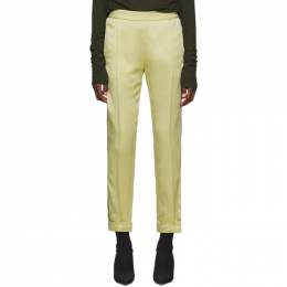 Haider Ackermann Yellow Kuiper Elastic Waistband Trousers 192542F08700301GB