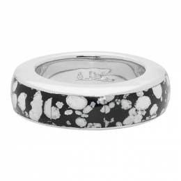 A.P.C. Silver Patterned Luc Ring 192252M14700701GB