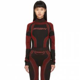 Misbhv SSENSE Exclusive Black and Red Active Turtleneck 192937F09902301GB