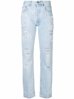 Forte Dei Marmi Couture - pearl embellished cropped jeans W98905DENIM993068553