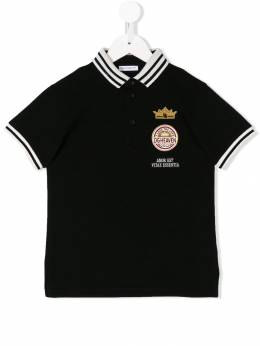 Dolce&Gabbana Kids - patch embellished polo shirt T8VG3QAJ939383960000