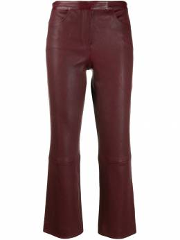 Theory - leather cropped trousers 66066955693590000000