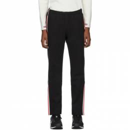 Moncler Grenoble Black Side Stripe Performance Ski Lounge Pants 192826M19000306GB