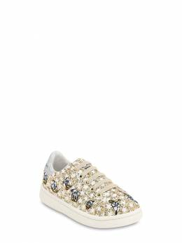 Glittered Slip-on Sneakers W/ Embroidery Moa Master Of Arts 70IOF5001-R09MRA2