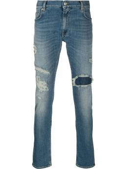 Tommy Hilfiger - mid-rise distressed jeans MW995639558336800000