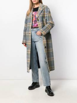 McQ Alexander McQueen - houndstooth single-breasted coat 965RNA60950606300000