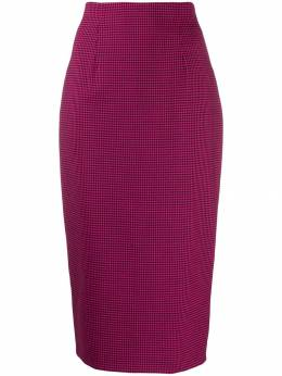 Alberto Biani - houndstooth-print fitted pencil skirt 893WO366695595856000