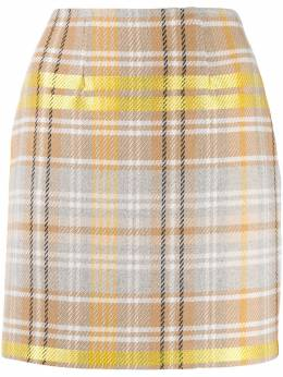 Federica Tosi - fitted check mini skirt 03OPN669695595503000