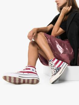 Converse - Chuck Taylor 70mm remix flag-print high top sneakers 506C9598365600000000