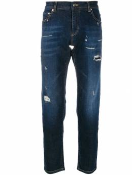 Les Hommes Urban - distressed straight leg jeans 566538UCARROT9559636