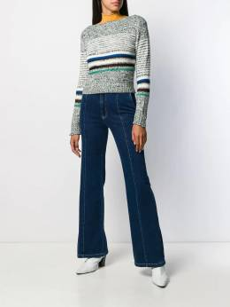 See By Chloé - horizontal knit stripes jumper 99WMP955369556663000
