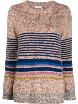 See By Chloé - horizontal knit stripes jumper 99WMP665369556666900