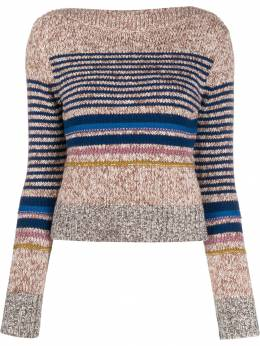 See By Chloé - horizontal stripe sweater 99WMP955369556663900