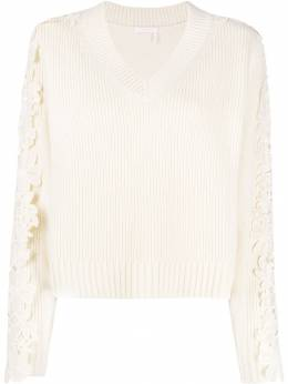 See By Chloé - lace appliqué pullover 99WMP995069556663500