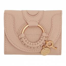 See By Chloe Pink Hana Trifold Wallet 192373F04001801GB