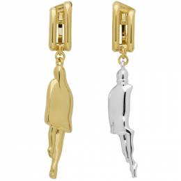 Chloe Gold and Silver Bonnie Couple Earrings 192338F02202301GB