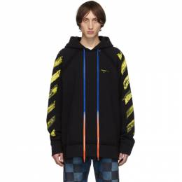 Off-White SSENSE Exclusive Black Arrows Incomplete Hoodie 192607M20203601GB