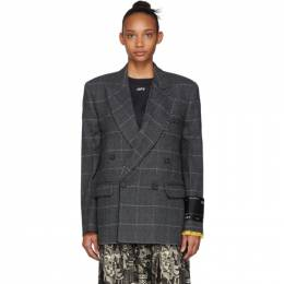 Off-White Grey Volume Double-Breasted Jacket 192607F05700601GB