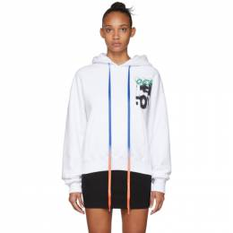 Off-White White Spray Blurred Over Hoodie 192607F09705905GB