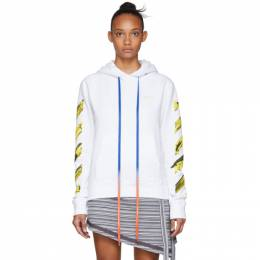 Off-White White Acrylic Arrows Hoodie 192607F09706501GB
