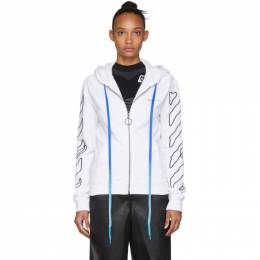 Off-White White Abstract Arrows Zip Hoodie 192607F09707806GB