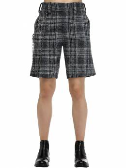 Checked Wool Blend Shorts W /chain Coach 70I5KW002-R1JFWS9CTFVF0