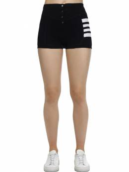 Cotton Compact Waffle Brief Shorts Thom Browne 70I524007-NDE10