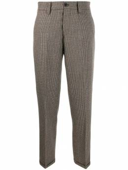 Pt01 - cropped checked trousers 6VGOB66STD9559556000