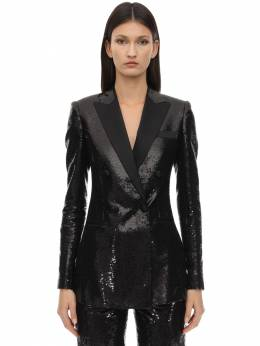 Sequined Double Breasted Blazer Elie Saab 70IB4T014-QkxBQ0s1