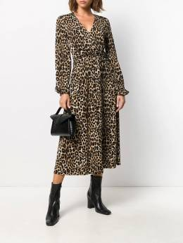 Michael Michael Kors - cheetah pattern midi dress 8Z3DD6M9559836600000