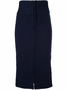 Jonathan Simkhai - ribbed split pencil skirt 3669H956980390000000